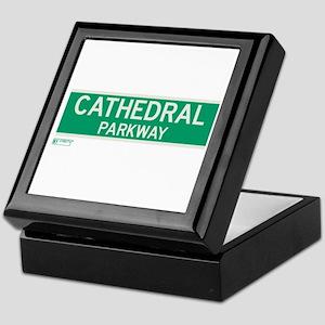 Cathedral Parkway in NY Keepsake Box
