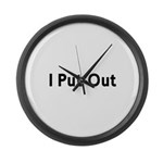 I Put Out Large Wall Clock