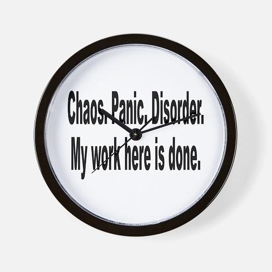 Chaos Panic Disorder Humor Wall Clock