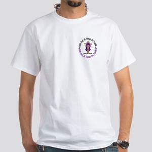 With God Cross SARCOIDOSIS White T-Shirt