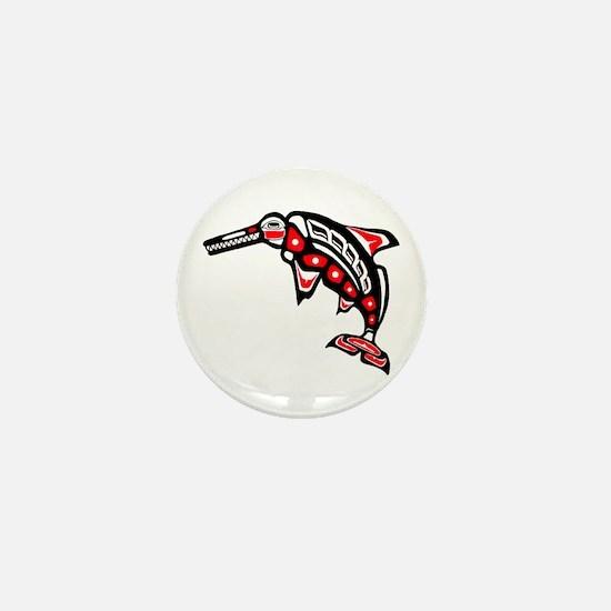 Kwak'wala Ichthyosaur Mini Button