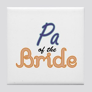 Pa of the Bride Tile Coaster