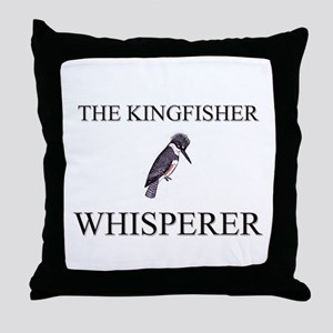 The Kingfisher Whisperer Throw Pillow