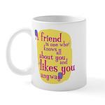 Fun Mug: A friend is one who knows
