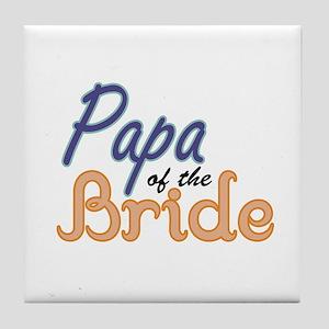 Papa of the Bride Tile Coaster