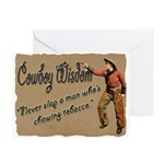 Vintage Cowboy- Wisdom Greeting Cards (Pk of 20)