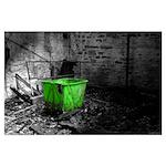 Green Laundry Hamper Poster