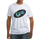 Killer Asteroid in Space Fitted T-Shirt