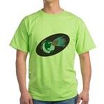 Killer Asteroid in Space Green T-Shirt