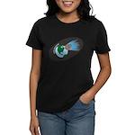 Killer Asteroid in Space Women's Dark T-Shirt