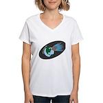 Killer Asteroid in Space Women's V-Neck T-Shirt