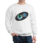 Killer Asteroid in Space Sweatshirt