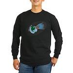 Killer Asteroid in Space Long Sleeve Dark T-Shirt