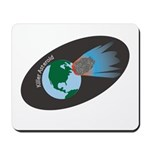 Killer Asteroid in Space Mousepad
