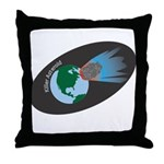 Killer Asteroid in Space Throw Pillow
