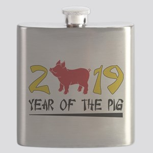 year of the pig 2019 Flask