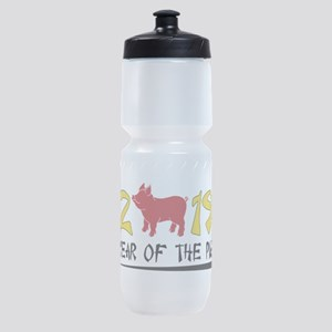 year of the pig 2019 Sports Bottle
