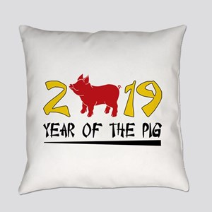year of the pig 2019 Everyday Pillow
