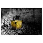 Yellow Laundry Hamper Poster