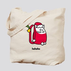 Santa Clause Christmas Cat Cartoon 2007 Tote Bag