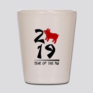 year of the pig 2019 Shot Glass
