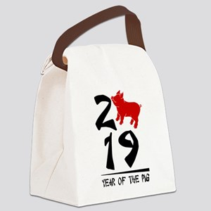 year of the pig 2019 Canvas Lunch Bag
