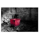 Red Laundry Hamper Poster