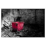 Red Laundry Hamper Poster