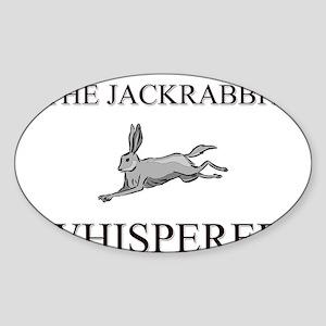 The Jackrabbit Whisperer Oval Sticker