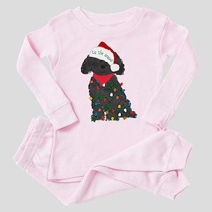 Christmas Labradoodle Toddler Pink Pajamas