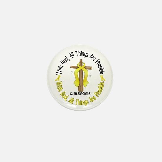 With God Cross SARCOMA Mini Button