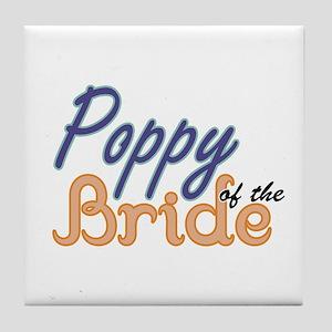 Poppy of the Bride Tile Coaster