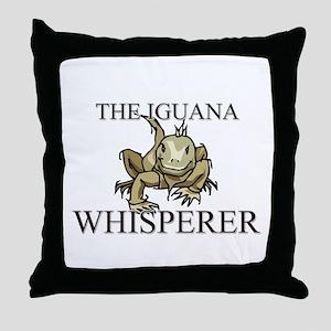 The Iguana Whisperer Throw Pillow