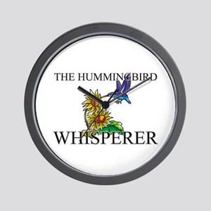 The Hummingbird Whisperer Wall Clock