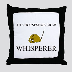 The Horseshoe Crab Whisperer Throw Pillow