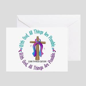 With God THYROID CANCER Greeting Card