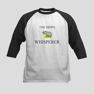 The Hippo Whisperer Kids Baseball Jersey