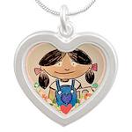 Silver, Heart Molly Necklace Necklaces