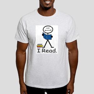 Reading Stick Figure Light T-Shirt