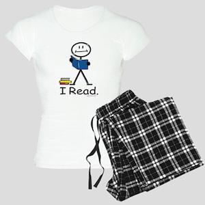 Reading Stick Figure Women's Light Pajamas