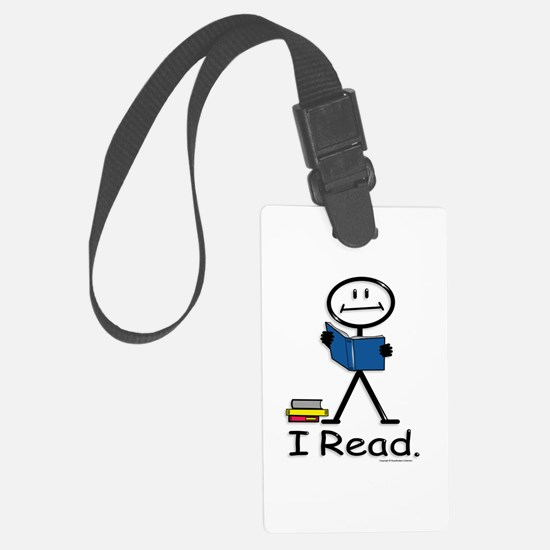 Reading Stick Figure Luggage Tag