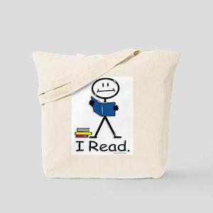 Reading Stick Figure Tote Bag