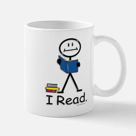 Reading Stick Figure Mug