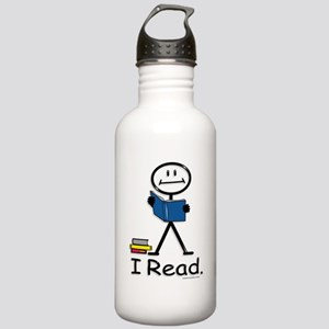 Reading Stick Figure Stainless Water Bottle 1.0L