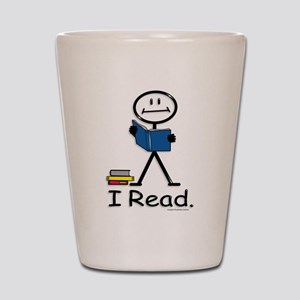Reading Stick Figure Shot Glass