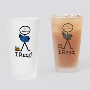 Reading Stick Figure Drinking Glass