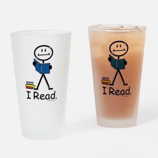 Reading Stick Figure Drinking Glass