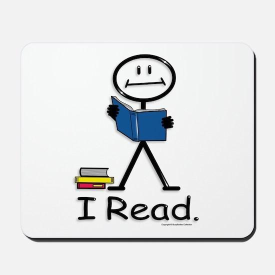 Reading Stick Figure Mousepad