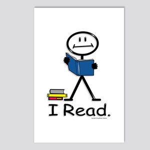Reading Stick Figure Postcards (Package of 8)