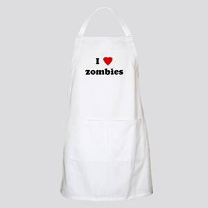 I Love zombies BBQ Apron